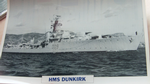 HMS Dunkirk 1945 Destroyer warship framed picture (20)